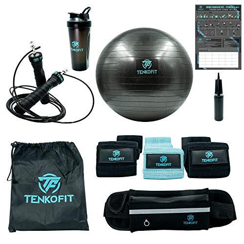TENKOFIT |appareils de Fitness 5 en 1 kit Accessoire Ballon...