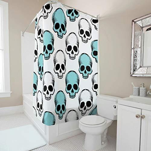 LAOAYI Duschvorhang mit Haken Polyestergewebe faltenbeständig Badewannenvorhänge für Wohnung & Zuhause white13 200x200cm