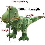 N\A Cartoon Tyrannosaurus Rex Dinosaurier Arlo Spot Kuscheltier Plüsch Puppe Figur Party Liefert Geburtstagsgeschenk Kinder Grün 100cm Länge