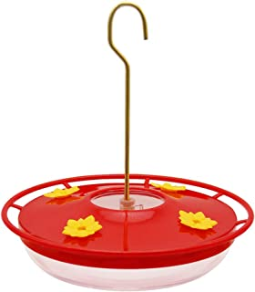 Lulu Home Hummingbird Feeder, 12 Ounce Bird Flower Feeders with 4 Feeding Stations for Outside