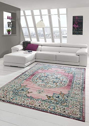 Teppich-Traum Alfombra Oriental Alfombra de salón Exterior Adornos en Rosado Größe 160x230 cm