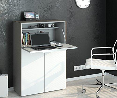 lisel-de Modell 2016 Schreibtisch Sekretär Barschrank Maja Glas Sand matt/Weißglas matt 80x116x39,3cm
