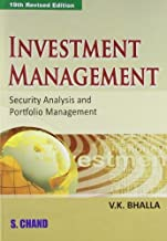 Investment Management: Security Analysis and Portfolio Management by V. K. Bhalla (2008-06-01)