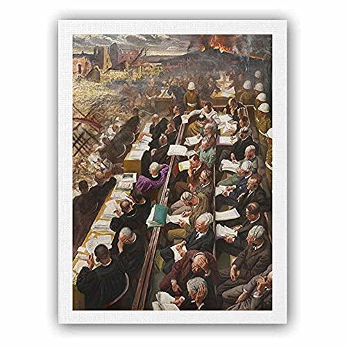 映画 ポスター 騎士ニュルンベルク裁判1946第二次世界大戦 ポスター アートキャンバス絵画 インテリアポスター・プリント 約90x60cm