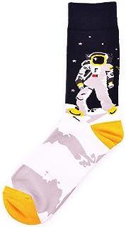 Calcetines Casuales Coloridos para Hombres Calcetines De Algodón Happy Funny Calcetines para Hombres Calcetines De Boda Space Constellation 1 Paquete 3 Pares