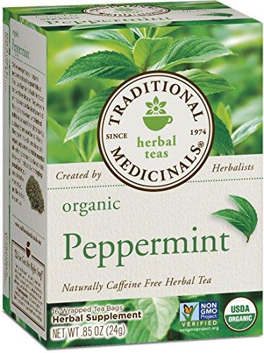Traditional Medicinals Organic Peppermint Herbal Leaf Tea, 16 Tea Bags