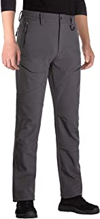 Men's Outdoor Softshell Fleece Lined Cargo Pants Snow Ski Hiking Pants