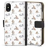 DeinDesign Étui Compatible avec Apple iPhone XS Étui Folio Étui magnétique Winnie l'ourson...