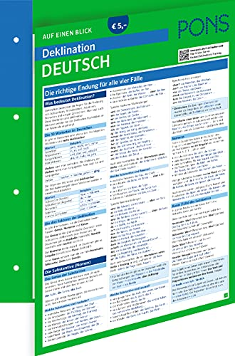 PONS Deklination Deutsch auf einen Blick: Die richtige Endung für alle vier Fälle (PONS auf einen Blick)