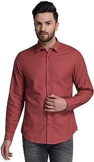 ID Men Rust Slim Fit Shirt