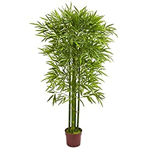 Nearly Natural 5.5′ Bamboo Artificial UV Resistant (Indoor/Outdoor) Silk Trees, Green