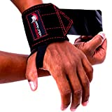 Dark Iron Fitness Leather Weight Lifting Wrist Wraps - Brace for Lifting