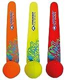 Schildkröt Neopren Diving Balls, 3 Tauchbälle mit Schweif, Sandfüllung, Schweif steht am Grund,...