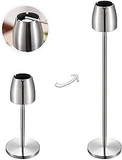 ECOSWAY cenicero de pie escalable de acero inoxidable, bandeja de cenizas portátil resistente al viento para el hogar/exterior/bar/oficina