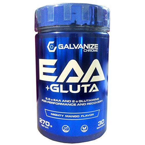 Galvanize - AMINOÁCIDOS ESENCIALES VEGANOS EN POLVO + GLUTAMINA: EAA & GLUTA - Mango - 270 gr.