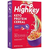HighKey Protein Snacks - Keto Breakfast Cereal - 0 Net Carb & Zero Sugar, Gluten & Grain Free Cereals Snack Food - Paleo, Diabetic, Ketogenic Diet Friendly Pebbles - Healthy Grocery Foods - Fruity