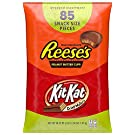 REESE'S and KIT KAT Assorted Milk Chocolate Snack Size Candy, Halloween, 46.38 oz Bulk Variety Bag (85 Pieces)
