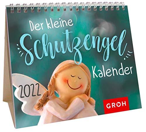 Der kleine Schutzengelkalender 2022: Mini-Monatskalender. Kleiner Aufstellkalender mit Monatskalendarium