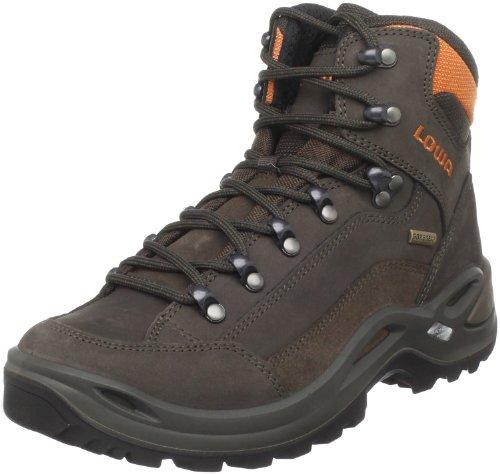 Lowa Women's Renegade GTX Mid Hiking Boot,Slate/Orange,10 M US
