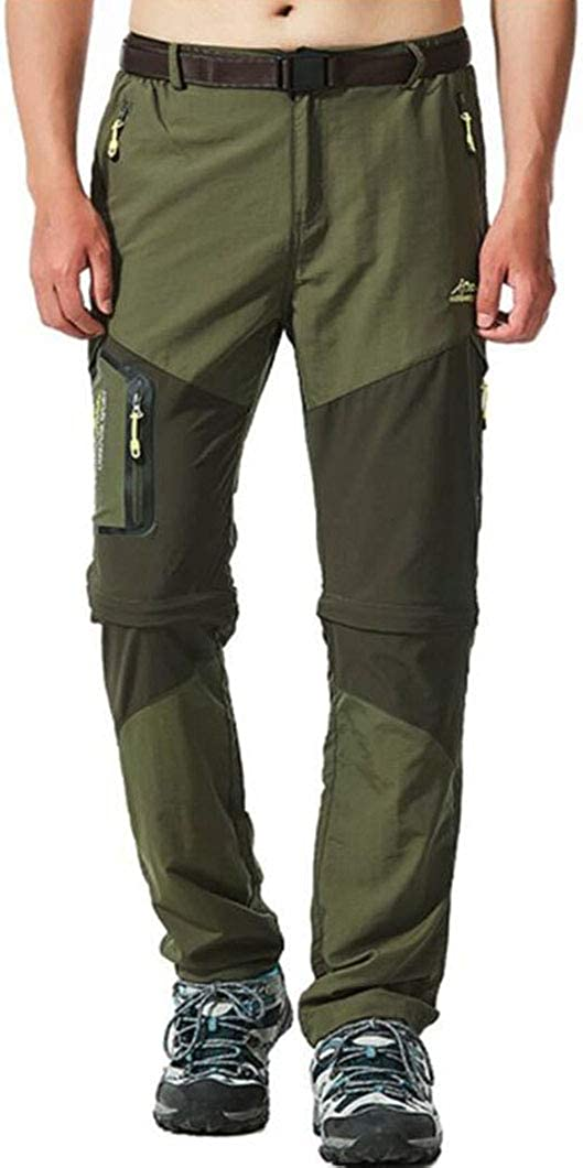 Amoystyle Men's Water-Repellent Quick Pants Dry Sale Convertible Over item handling ☆ Clea