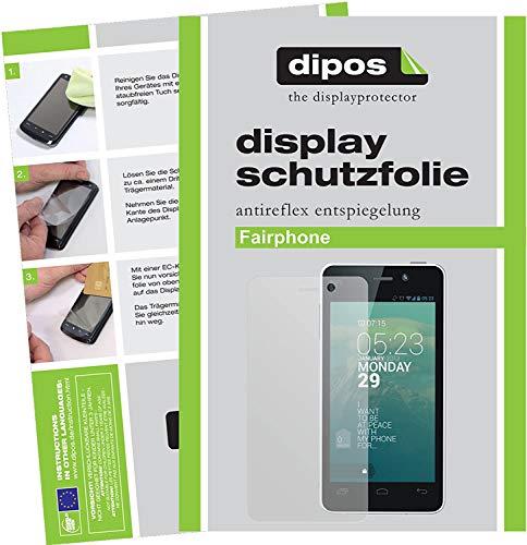 dipos I 2X Schutzfolie matt kompatibel mit Fairphone Fairphone Folie Bildschirmschutzfolie