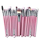 Gaocheng Premium Colorful Foundation Blending Blush Eye Face Brush Powder Cerdas sintéticas Set de pinceles de maquillaje 20 piezas Cosmetics Makeup Brushes Kit Style 11