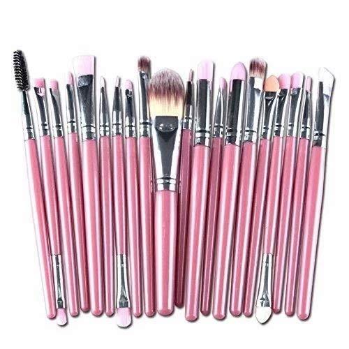Doyeemei soies synthétiques Pinceaux de maquillage mis 20 pièces cosmétiques Kit de brosses de maquillage base colorée prime mélange Blush Blush poudre visage yeux Style 11