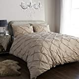 <span class='highlight'>SBL</span> <span class='highlight'>Trendz</span> Pintuck Polycotton Fancy Duvet Quilt Cover Set with Pillow Cases Bedding (Double, Oyster)