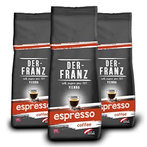 Der-Franz Espresso-Kaffee UTZ, ganze Bohne, 3x500g