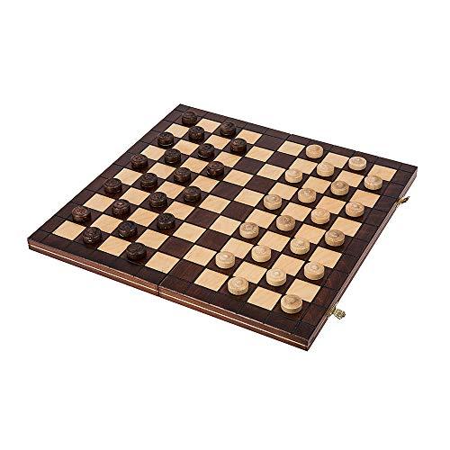 Square - Damas de Madera - 100 Campo - Checkers - 40 x 40 cm