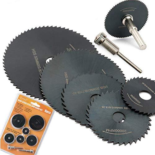 8 pcs Sägeblatt kreissägeblätter Set JTENG für dremel drehwerkzeug geeignet für holz, plastik, fiberglas, kupfer, aluminium und dünnen blech Multitool Werkzeug Repair Tool Kit