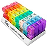 MEDca Tabletten-Organizer mit 32 Fächern, für die 2-mal täglichen Einnahme