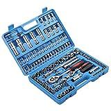 108 set di chiavi a cricchetto, 108 set di chiavi a cricchetto professionali e una piccola scatola, molto adatto per lavori di serraggio e di assemblaggio, adatto per i Bricolatori