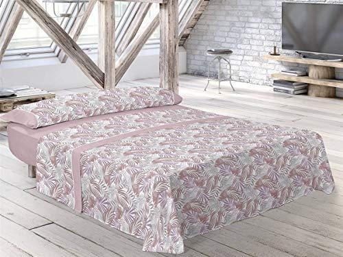 Pierre Cardin - Juego de sábanas Bale - Cama 135 Cm - Color Rosa C3