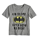 Jumping Beans Toddler Boys 2T-5T DC Comics Batman Heathered Graphic Tee 3T Charcoal Snow