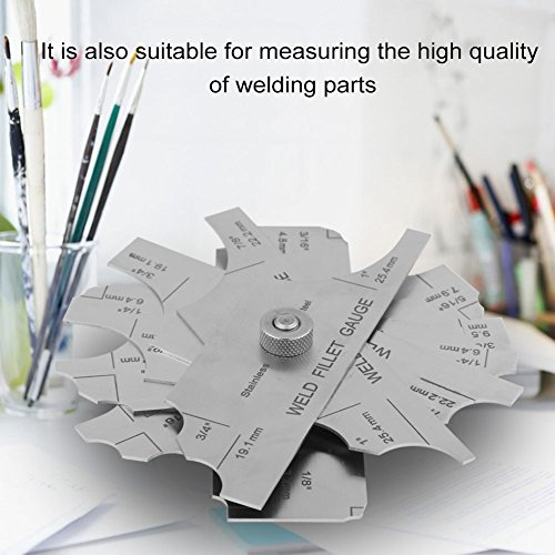 Stainless Steel Welding Gauge,Welding Gauge Gage Test Ulnar Welder Inspection Gauge Both Inch and Metric,Fillet Weld Gauge Photo #7
