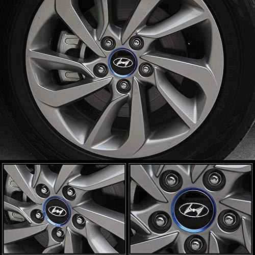 4 Piezas Tapas centrales, para 2015 Hyundai Tucson Coche Central Llanta Rueda Cubre Embellecedor Insignia