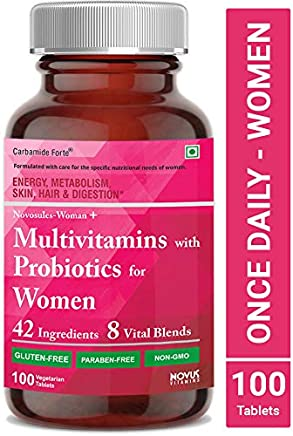 Carbamide Forte Multivitamin for Women with Ginseng, Biotin, Iron & Calcium – 100 Veg Tablets