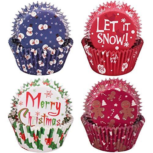 WENTS Mini Muffin Förmchen 500 Stück Weihnachten Cupcake Papierförmchen Liner Muffin Backförmchen Cupcake Fällen Kuchen Backen Muffin Dessert Hochzeit Party
