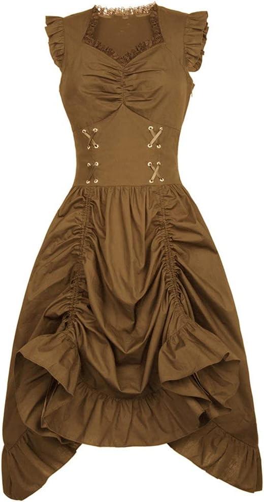 XJJZS Women Dresses Sleeveless Retro Victorian Dress Ranking TOP18 Max 68% OFF Gothic Lady