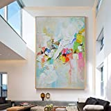 SUMIANYH 100% Hand-Painted Oil Paintings Pure Hand-Painted Oil Painting Modern Minimalist Style Decorative Painting Porch Living Room Painting Nordic American Mural Giant Manual,80×120Cm