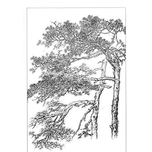 Chinesische Art Tuschemalerei handgemalte abstrakte Kunst Design Tinte einfache abstrakte Landschaftsmalerei