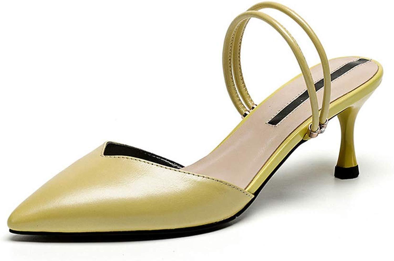 Frauenhaussautope Pantofole da Donna Stile Americano, Spesso con Seali Baotou Pantofole da Donna Stile Europeo e Americano con Cuciture a Punta,C,35