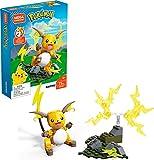 Mega Construx Pokemon Raichu Construction Set with character figures, Building Toys for Kids (73 Pieces)