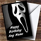 Scream Scary Horror Personalized Birthday Greetings Greetings Card