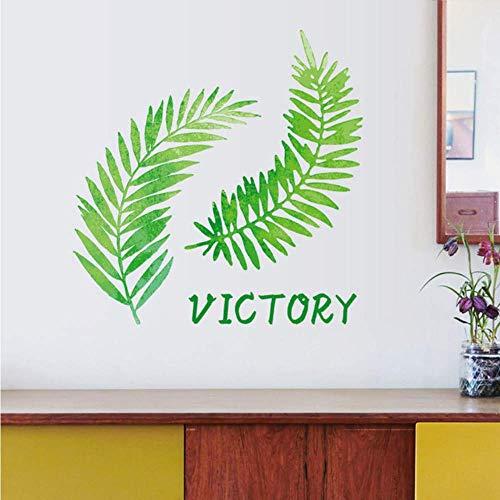 Estilo Nórdico Plantas Tropicales Hojas Grandes Pegatinas De Pared Hogar Decoración Verde Sala De Estar Gabinete De Estudio Fresco Translúcido Tamaño De Autopasado 50 * 70 Cm