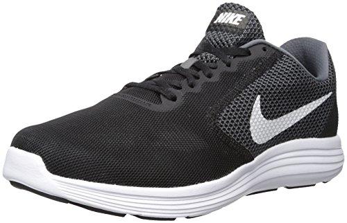 Nike Men's Revolution 3 Running Shoe, Grey/Black, 9.5 M US