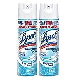 Lysol Disinfecting Spray, Crisp Linen, 19oz. (Pack of 2), Packaging...