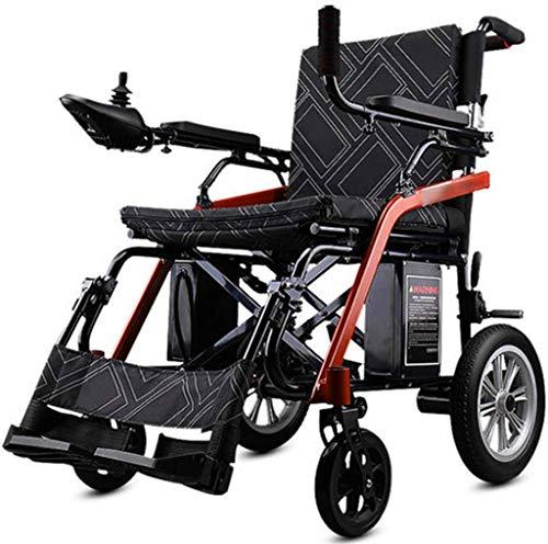 De peso ligero plegable sillas de ruedas eléctrica Energía Eléctrica plegable silla de ruedas, silla de ruedas for minusválidos de edad avanzada inteligente de cuatro ruedas automáticas ligeras, de in