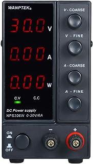 جهاز إمداد طاقة بتيار مستمر للتحويل NPS306 واط 0-6 أمبير مزود بثلاث أرقام LED عالي الدقة وقابل للتعديل تيار متردد 115 فولت...